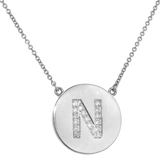 Jennifer Meyer Diamond Letter White Gold Necklace