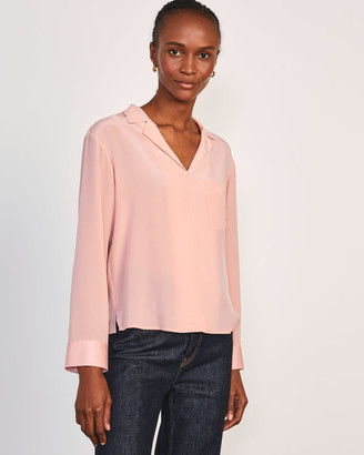 Jigsaw Silk Front Pyjama Shirt