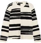 Proenza Schouler Striped Stretch Wool-blend Sweater - White