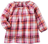 Osh Kosh Embroidered Plaid Top
