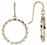 Melinda Maria Small Spiky Circle Drop Earrings
