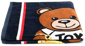MOSCHINO BAMBINO Teddy Bear-Print Cotton Towel