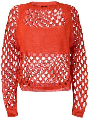 Pinko Knitted Mesh Jumper