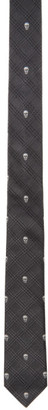 Alexander McQueen Grey and Silver Prince of Wales Tie