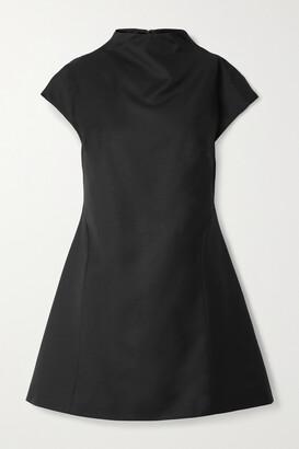 ANNA QUAN Karla Draped Wool-twill Mini Dress