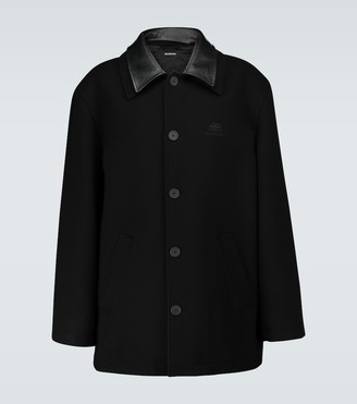 Balenciaga Double collar wool jacket