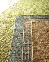 Horchow Earth Tones Braided Rug, 5' x 8'