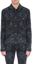 Versace Baroque-print Denim (blue) Jacket