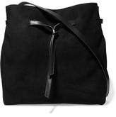 Halston Olivia Leather And Suede Shoulder Bag