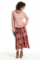 Calypso St. Barth Ciosa Block Printed Silk Skirt