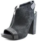 Fergie Rowley Women Open Toe Leather Black Platform Heel.