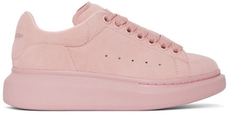 Alexander McQueen Pink Suede Oversized Sneakers