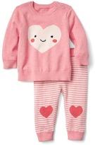 Gap Heart sweater and pants set