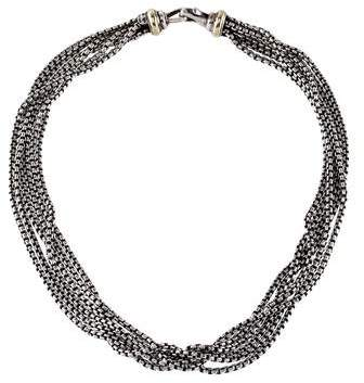 David Yurman Multistrand Box Chain Necklace