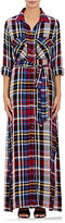 L'Agence Women's Cassie Plaid Flannel Shirtdress-Red