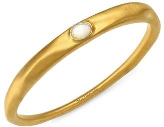 Dean Davidson 22K Goldplated & Mother-Of-Pearl Doublet Bangle Bracelet