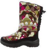 Emilio Pucci Printed Mid-Calf Snow Boots