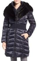 Laundry by Shelli Segal Women's Faux Fur Trim Hooded Puffer Coat