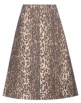 See by Chloe Printed Wool-blend A-line Skirt