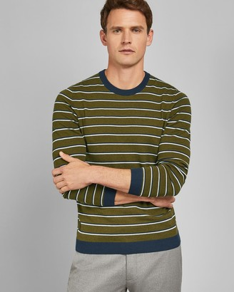 Ted Baker Striped Knitted Crew Neck