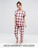 Asos Check Tee Pajama Set