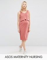 ASOS Maternity - Nursing ASOS Maternity NURSING Double Layer Cami Dress