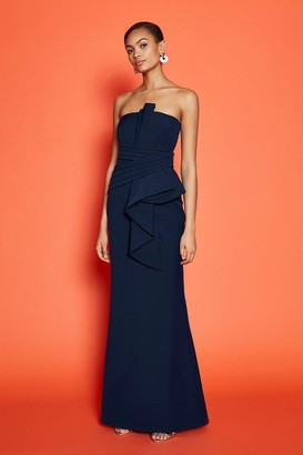 Coast Drape Wrap Detail Bandeau Maxi Dress
