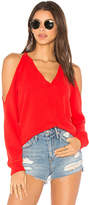 Lanston Cold Shoulder Sweatshirt in Red. - size L (also in M,S,XS)