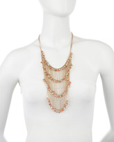 Fragments for Neiman Marcus Tiered Fringe Necklace, Coral