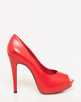 Le Château Brazilian-Made Leather Peep Toe Pump
