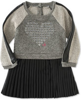 Calvin Klein Baby Girls' Pleated-Skirt Heart Dress