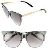 Victoria Beckham Women's Layered Combination 57Mm Square Sunglasses - Green Marble