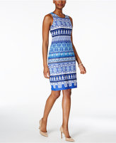 Charter Club Stripe-Pattern Shift Dress, Only at Macy's