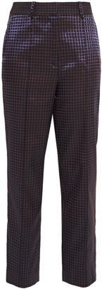 Diane von Furstenberg Riya Metallic Jacquard Straight-leg Pants