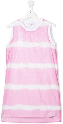 Msgm Kids TEEN sequin-embellished tank top dress