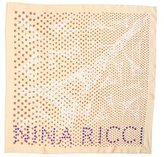 Nina Ricci Silk Polka Dot Scarf w/ Tags