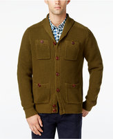 Tommy Hilfiger Men's Big & Tall Max Military Shawl-Collar Cardigan
