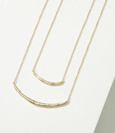 LOFT Pave Bar Layered Necklace