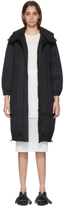 Pleats Please Issey Miyake Reversible Black Down Plisse Coat