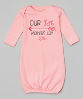 Pink 'Our First Mother's Day' Gown - Infant