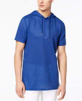 GUESS Men's Alder Mesh Hooded T-Shirt