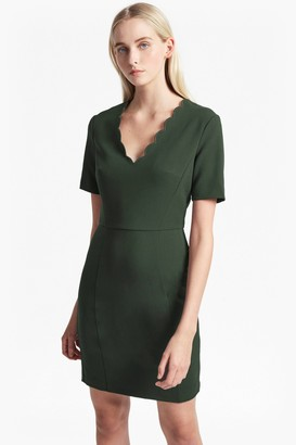 French Connection Whisper Ruth Scalloped Dress