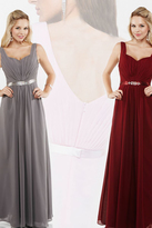 Milano Formals - Sweetheart Ruched A-Line Long Dress E1852