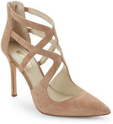 BCBGeneration Sand Torpido Pointed Toe High Heel Caged Pumps