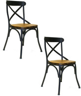 Pangea Rustique By  Set Of 2 Dylan Wood Dining Chair