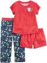 Carter's Girls 4-14 3-pc. Floral Dot Pajama Set