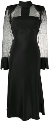 Karl Lagerfeld Paris STUDIO KL sheer panel dress