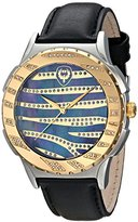 "Brillier Unisex 12-03 ""Kalypso"" Diamond-Accented Gold-Tone Stainless Steel Watch"