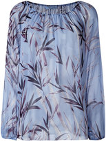 Blumarine floral print blouse - women - Silk - 40