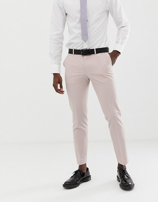 Burton Menswear wedding skinny suit pants in pink